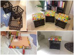 repurpose milk crate into additional seating tomboyangel milk crate seatscrate stooiy