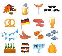 Traditional Symbols Traditional Symbols Of The Oktoberfest Icons Set German National