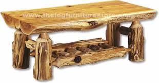 The most common log coffee table material is wood. Half Log Coffee Table Lrt07 Minnesota Cedar Log Coffee Tables The Log Furniture Store