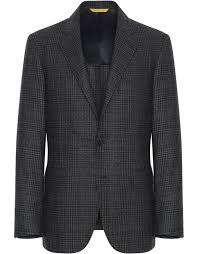<b>Gray and black</b> wool Kei blazer | Canali.com