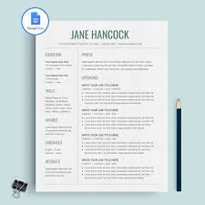 Impressive Resume Google Docs Resume Template Instant Download Resume Template Google Docs Or Cv Design