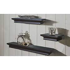 mainstays 3 piece home office bundle black. Mainstays 3-Piece Floating Shelves, Black (Brown) 3 Piece Home Office Bundle