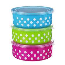 <b>Набор</b> пищевых <b>контейнеров 3</b> шт, пластик, <b>3</b> цвета в магазинах ...