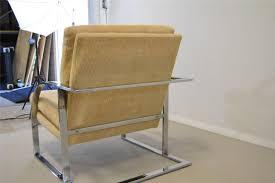 milo baughman furniture. Pr-of-Mid-Century-Chrome-Lounge-Chairs-by- Milo Baughman Furniture