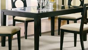 modern oak table chairs kirk sets dining dark round glass furniture appealing room wooden set seater