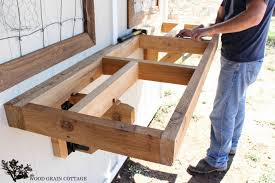 fold up potting bench by the wood grain cottage
