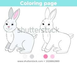 Coloring Pages Easter Bunny Coloring Page Outline For Kids Cartoon