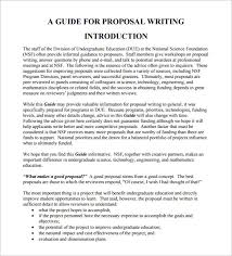 Writing A Proposal Example 15 Writing Proposal Templates Free Sample Example Format