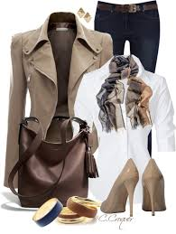 taupe leather jacket work outfit outfitspedia
