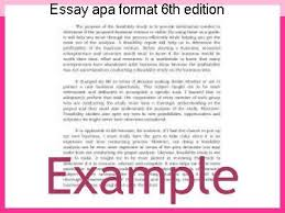 Essay Apa Format 6th Edition Homework Writing Service