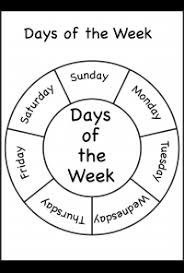 Days Of The Week Chart For Toddlers Spelling Days Of The Week Free Printable Worksheets