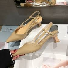 Shop <b>Summer Korean version of</b> pointed Baotou sandals fashion full ...