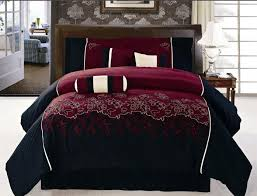 burgundy and black velvet comforter bed set | Click on any of the pictures  below for