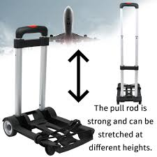 Flatbed Trailer Lights Us 18 99 New Portable Foldable Two Wheeled Luggage Shopping Travel Cart Flatbed Trailer Trolley Barrow In Hand Tool Sets From Tools On Aliexpress