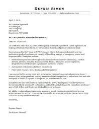 Letter To Interview Emt Cover Letter Sample Monster Com