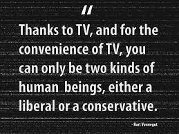 Life Quotes: Either A Liberal Or A Conservative Quote About TV via Relatably.com