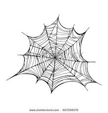 web drawing spiderweb trap vector illustration isolated web stock vector