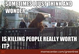 Thoughtful Bear! by greentree - Meme Center via Relatably.com
