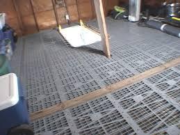 installing a new type of flooring called attic dek