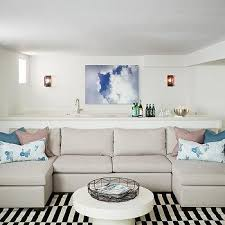 light gray sofa with two chaise lounges