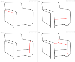 armchair drawing step by step. Beautiful Step Chairs With Armchair Drawing Step By C
