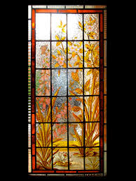 four star stained glass door panel repair of victorian door panel piotr frac stained glass