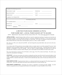 local purchasing order sample purchase order 41 examples in word pdf