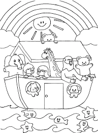 Small Picture Cute Noahs Ark coloring page other pages Home Bible Lessons