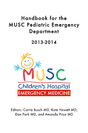 Musc Doctors Note Musc Pediatric Emergency Medicine Handbook 2013