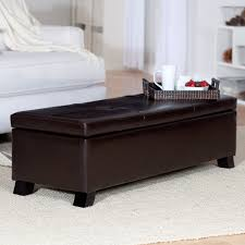 crawford leather storage bench ottoman  walmartcom