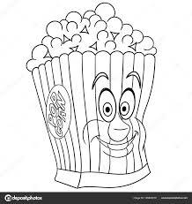 Kleurplaat Popcorn