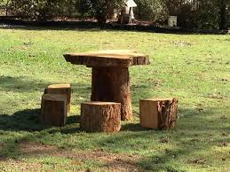 tree stump furniture ideas. Seats That Look A Little Like Fairy Rhpinterestcom Gnome House From Tree Stump Home Sweet Gardens Furniture Ideas