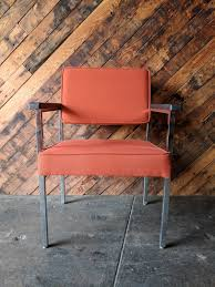 office orange. Vintage Chrome Office Arm Chair In Original Orange Fabric Office Orange T