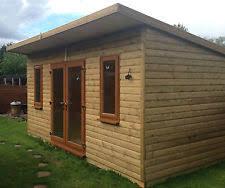 summer house office. 16x9ft tanalised loglap insulated garden buildinggymsummerhousegarden office summer house o