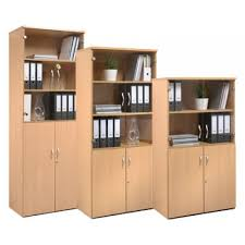 Standard Office Combination Bookcase \u0026 Cupboard Units With Glass Wood  Doors Online Desks UK Furniture