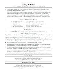 Legal Secretary Resume Objective Legal Assistant Resume Resume Legal