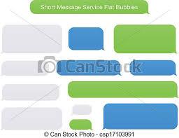 Green Text Bubble Short Message Service Flat Bubbles