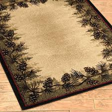 rustic area rugs cabin rug pine cone forest border rustic cabin lodge area rug log cabin rustic area rugs