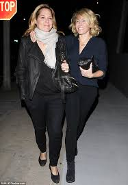 here they come close friends mary mccormack l and chelsea handler r