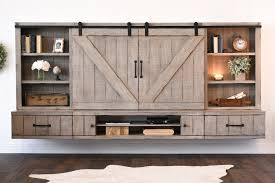 Floating Tv Stand Barn Door Floating Tv Stand Entertainment Center Farmhouse