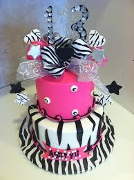 pink cakes for girls 13th birthday. Unique 13th Zebra Print 13th Birthday Cake In Pink Cakes For Girls D
