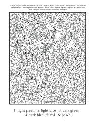 Free Printable Color By Number Pages For Adults Color By Number