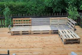 pallets made furniture under garden
