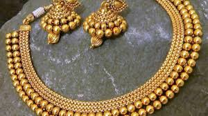 Antique Gold Jewellery Necklace Designs Latest Antique Gold Necklace Sets