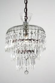 vintage chandeliers petite antique three tier crystal chandelier with glass prisms