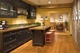Dark Wood Floors In Kitchen Dark Wood Floor With White Kitchen Comfortable Home Design