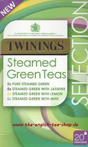 twinings steamed green teas selection 20 tea bags 37 5g