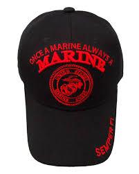 Once A Marine Always A Marine Once A Marine Always A Marine Emblem Cap