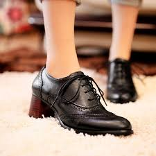 new vintage oxford shoes women leather shoes thick heel female office work shoes ankle boots woman