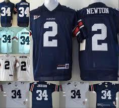 Cam Auburn Newton Sleeve Blue 2 Navy 34 Mens Kids College Stitched White Orange Tigers Jackson Ncaa Jersey With Bo Football